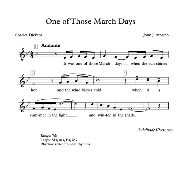 charles dickens march choral music singing round