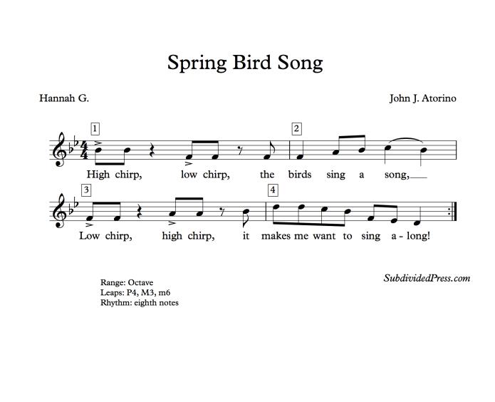 choral music singing round spring bird