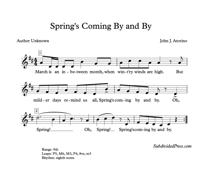 choral music singing round march spring