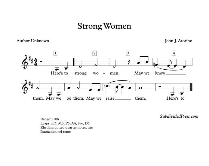 choral music singing round women's day
