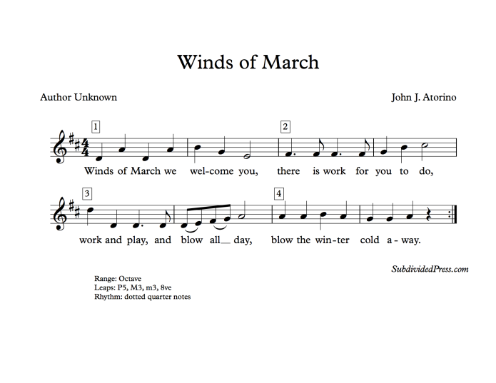 choral music singing round march wind