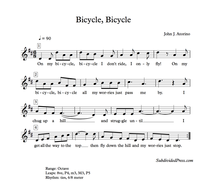 choral music singing round bicycle