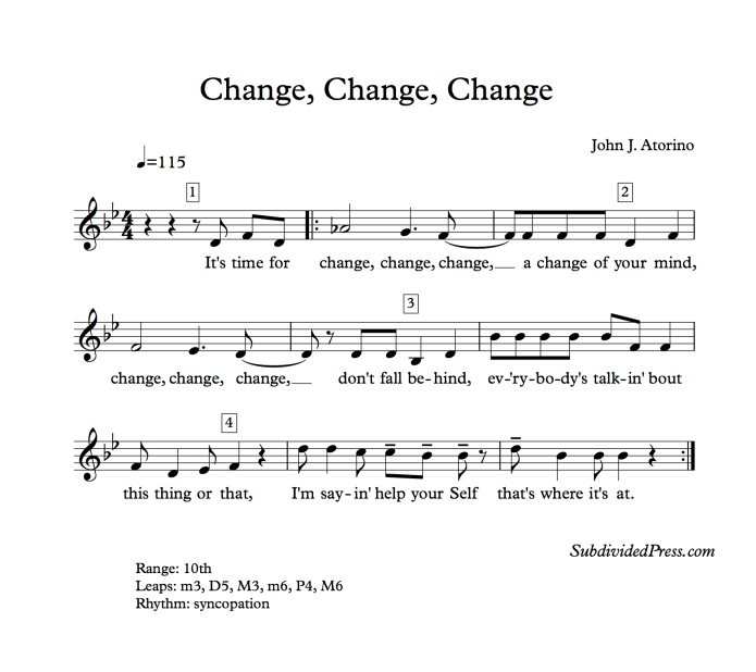 choral music singing round change