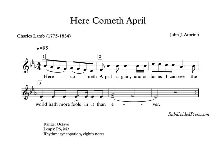 choral music singing round april