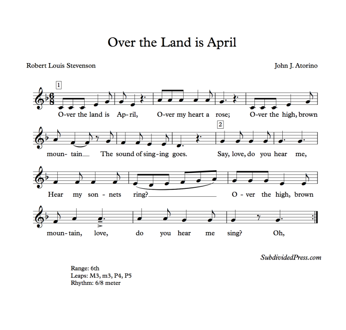 Robert Louis Stevenson Song Children Music