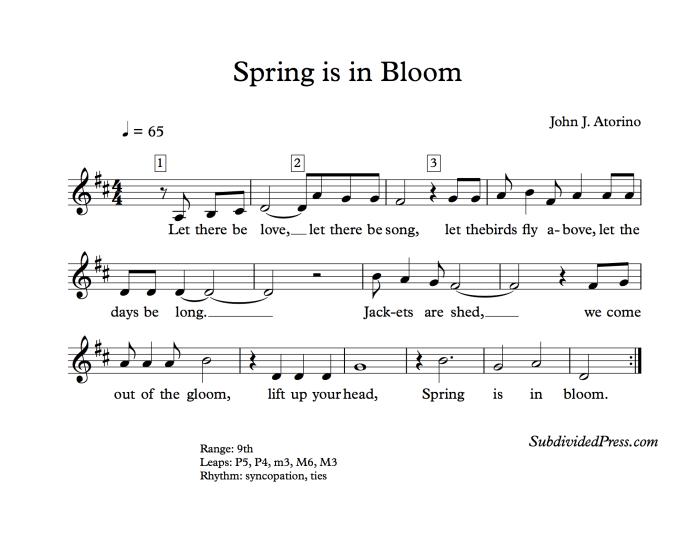 choral music singing round spring