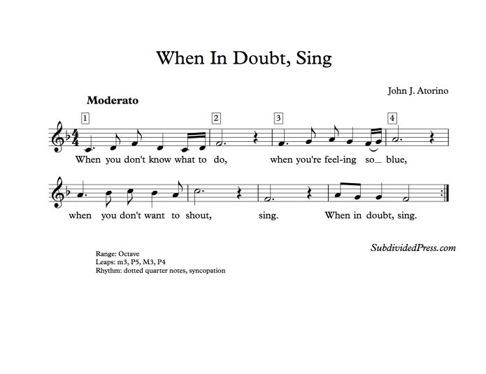 choral music singing round sing